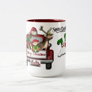 Santa's House Christmas Mug