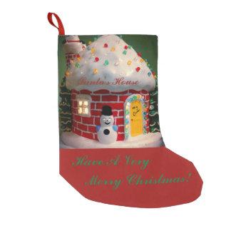 Santa's House Christmas Stocking