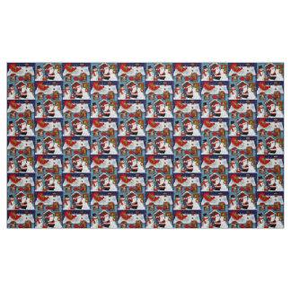 Santa's House Fabric