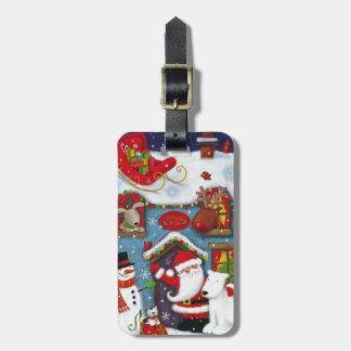 Santa's House Luggage Tag