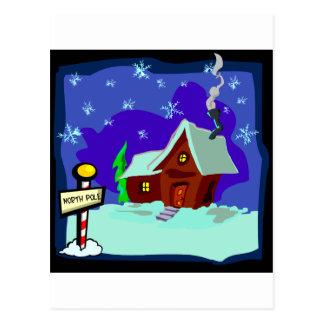 Santas House Postcard