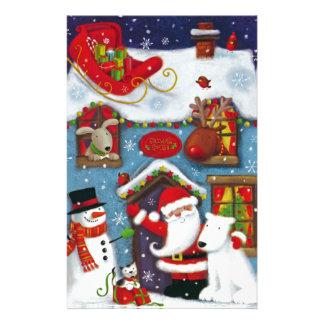 Santa's House Stationery