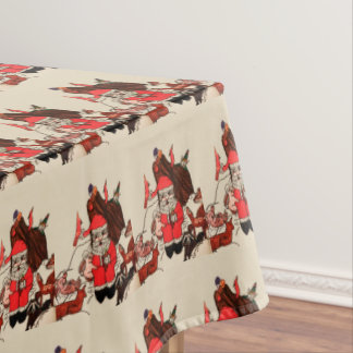 SANTA'S IN THE WOODS  table cloth