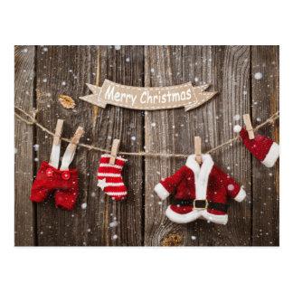 Santa's Laundry Postcard