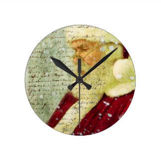 Santas Letter Round Clock