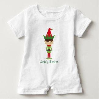 Santa's lil helper baby romper