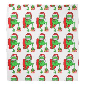 Santas Little Amphipian Helper Funny Frog Bandana