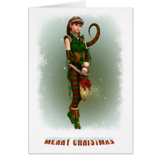Santas Little Helper Amy Card