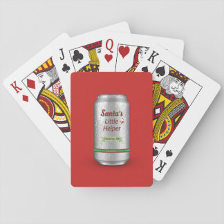 Santa's Little Helper Beer Can Playing Cards