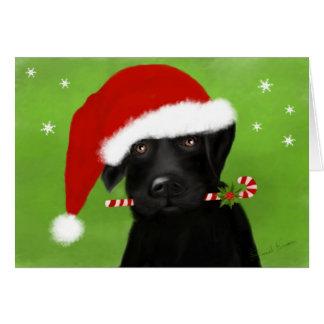 Santa's Little Helper Christmas Labrador Card