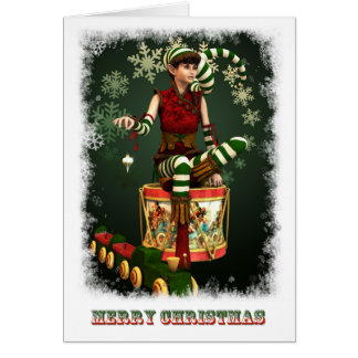Santas little helper Katie Card