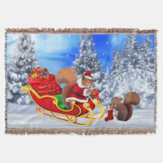 SANTA'S LITTLE HELPER THROW BLANKET