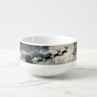 Santa's Midnight Ride Christmas Soup Mug