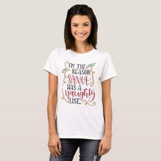 Santa's naughty list Christmas Holiday Funny T T-Shirt