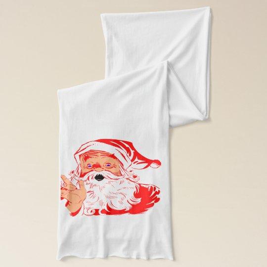 Santa's Naughty List Scarf Wrap