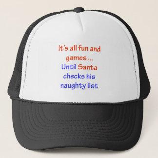 Santa's Naughty List Trucker Hat