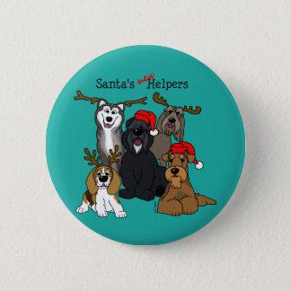 Santas new helpers 2 inch round button