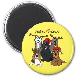 Santas new helpers 2 inch round magnet