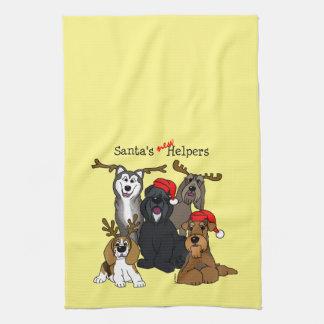 Santas new helpers kitchen towel