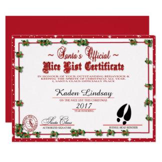 Santa's Nice List Card