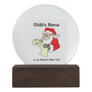 Santa's Nice List Christmas Snow Globe