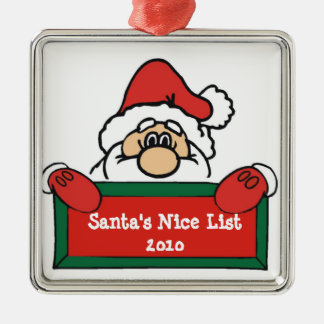 Santa's Nice List Christmas Tree Ornament