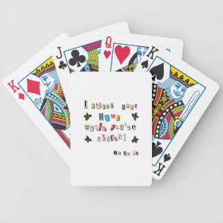 Santa's note bicycle playing cards