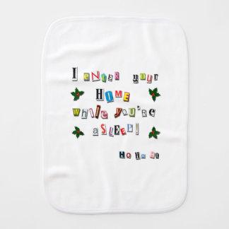 Santa's note burp cloth