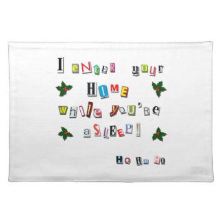 Santa's note placemat