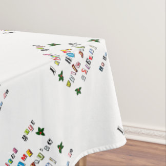 Santa's note tablecloth