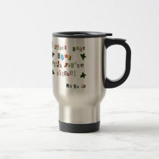 Santa's note travel mug