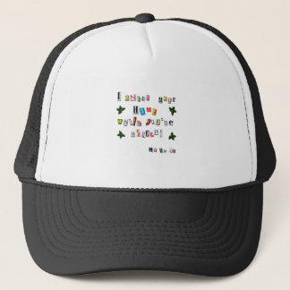 Santa's note trucker hat