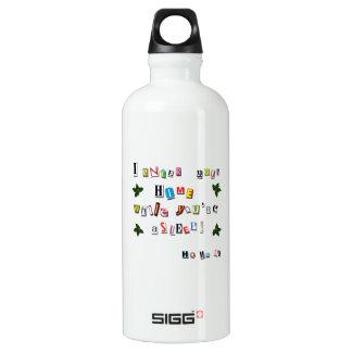Santa's note water bottle