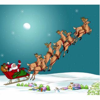 Santa's on his way standing photo sculpture