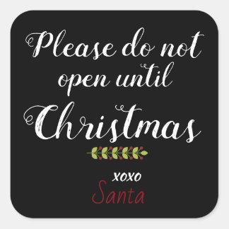 Santa's Package Warning Stickers for Grownups!