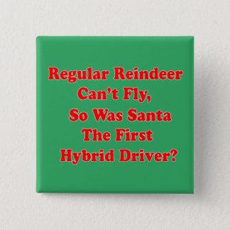 santa's reindeer hybrid pun 2 inch square button