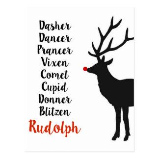 Santa's Reindeer | Postcard