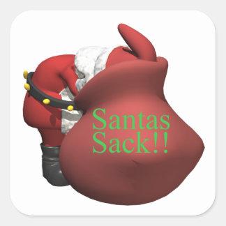 Santas Sack Square Sticker