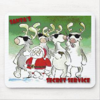 Santa's Secret Service Mouse Pad
