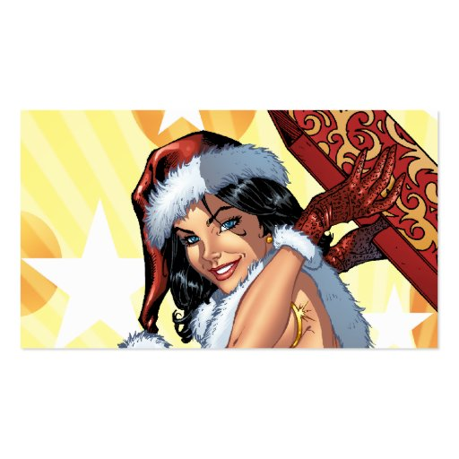 Santa's Sexy Christmas Present Pinup by Al Rio Pack Of Standard Business Cards