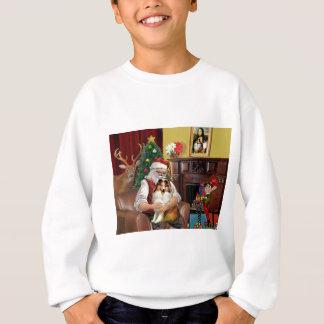 Santa's Sheltie (sw) Sweatshirt
