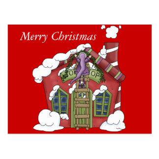 Santa's Shop Christmas Post Card