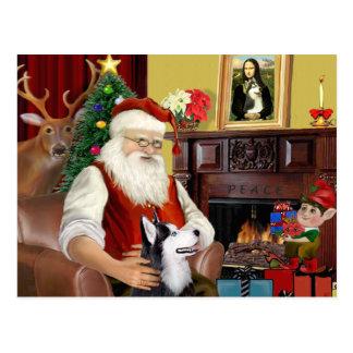 Santa's Siberian Husky Postcard