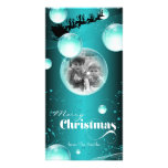 Santa's Sleigh Bubble Christmas Holiday Photo Card