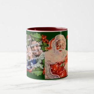 Santas Sleigh Ride Christmas Photo Mug