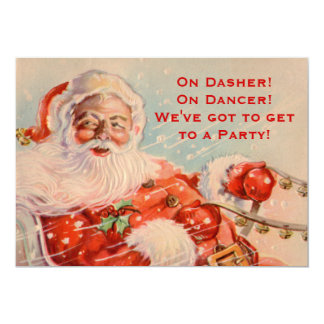 Santas Sleigh Ride Party Invitation