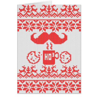 Santa's Stache Over Red Midnight Snack Card