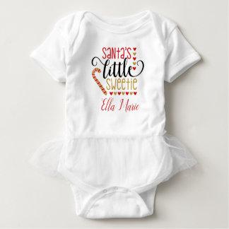 Santas sweetie custom baby bodysuit