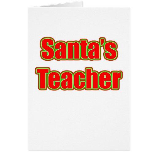 Santa's Teacher Cards