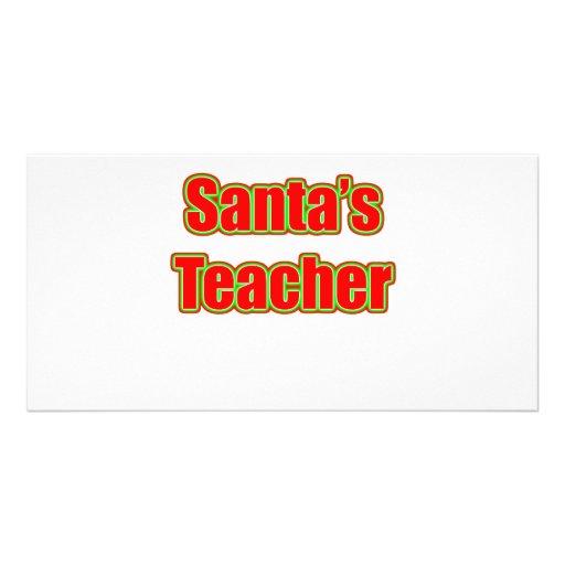 Santa's Teacher Photo Cards